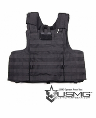 USMG Operator Armor Vest (Medium) (Black)