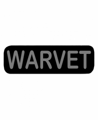 WARVET Patch Small Black