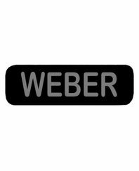 WEBER Patch Small Black