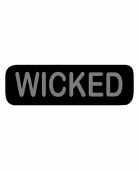 WICKED Patch Small Black