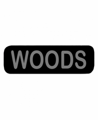 WOODS Patch Small Black