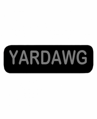 YARDDAWG Patch Large Black