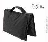 Filled Heavy Duty Saddle Sandbag 35lb Black
