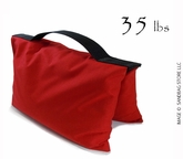 Filled Heavy Duty Saddle Sandbag 35lb Red