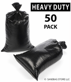 Poly Sandbag, Heavy Duty Black 50 pk.