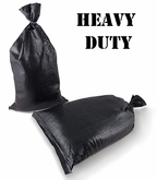 Heavy Duty Poly Sandbag Black 4000 hr UV 100 pk.