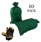 Mini Sandbag, Heavy Duty 8x14 Green 10 pk.