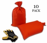 Mini Sandbag, Heavy Duty 8x14 Orange 10 pk.