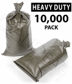 Poly Sandbag, Heavy Duty Green 10,000 pk.