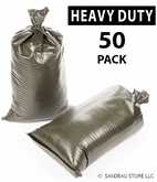 Poly Sandbag, Heavy Duty Green 50 pk.
