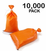Poly Sandbag 14x26 Orange 10,000 pk. 2000 hr UV