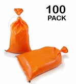 Poly Sandbag 14x26 Orange 100 pk. 2000 hr UV