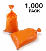 Poly Sandbag 14x26 Orange 1000 pk. 2000 hr UV