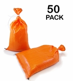 Poly Sandbag 14x26 Orange 50 pk. 2000 hr UV