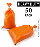 Poly Sandbag, Heavy Duty Orange 50 pk.