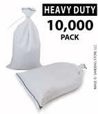 Poly Sandbag, Heavy Duty White 10,000 pk