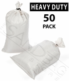 Poly Sandbag, Heavy Duty White 50 pk.