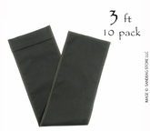 "Sandbag Tube 8"" x 36"" Black 10 pk."