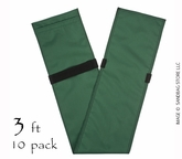 "Tube Sandbag�  36"" Green 10 pk."