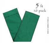"Sandbag Tube 8"" x 60"" Green 10 pk."