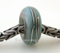 Aged Copper Green Fine Silver Wrap European Charm Bead