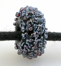 Black Lustre Sugar European Charm Bead