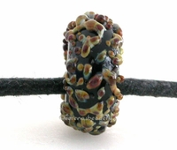 Black Raku Sugar European Charm Bead