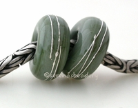 Commando Green Fine Silver Wrap European Charm Bead