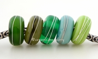 Green Sampler Fine Silver Wrap European Charm Bead