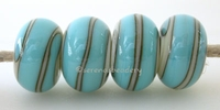 Ivory Turquoise Spiral