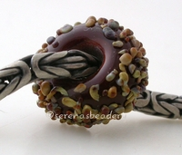 Light Chestnut Raku Sugar European Charm Bead