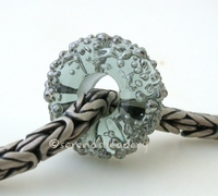 Light Steel Grey Lustre Sugar European Charm Bead