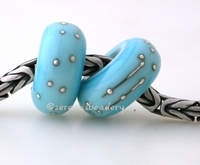 Light Turquoise Fine Silver Wrap European Charm Bead