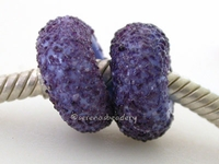 Purple Pansy Sugar European Charm Beads