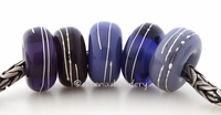 Purple Sampler Fine Silver Wrap European Charm Bead