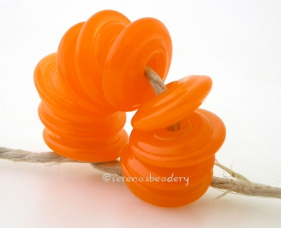 Translucent Orange Wavy Disk Spacer