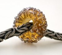 Yellow Lustre Sugar European Charm Bead