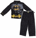 Black Batman Suit Coat Style Pajamas for Boys