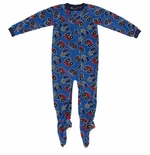 Blue Monster Truck Boys Footed Pajamas