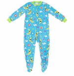 Blue Night Sky Footed Pajamas for Girls