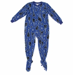 Bright Blue Guitar Footed Pajamas for Boys