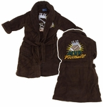Brown Football Bathrobe for Toddlers and Boys