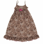 Brown Leopard Girls Nightgown