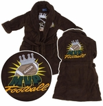 Brown MVP Football Robe for Toddlers and Boys