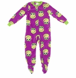 Dark Purple Frog Footed Pajamas for Girls