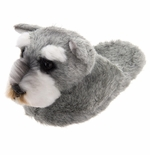 Gray Schnauzer Slippers for Kids