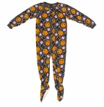 Gray Sports Boys Footed Pajamas