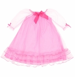 Laura Dare Delicate Pink Nightgown with Bow for Toddlers and Girls