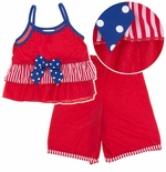 Laura Dare Patriotic Strappy Pajamas for Toddlers and Girls
