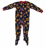 Navy Basketball Boys Footed Pajamas